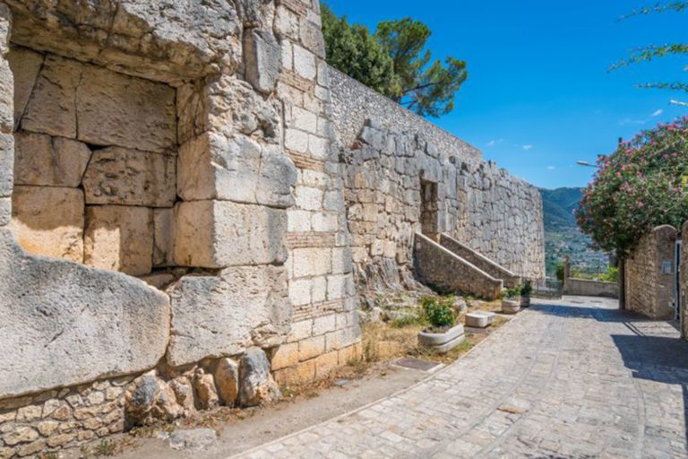 Megalithic walls in Alatri acropolis, province of Frosinone, Laz